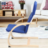 US Modern Fabric Arm Chair Single Sofa Seat Leisure Living Room Furniture Blue