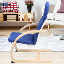 US Modern Fabric Arm Chair Single Sofa Seat Leisure Living Room Furniture Blue