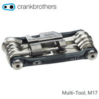 Crank Brothers M17 Multi Tool for Bicycle, 17 Bike Tools, Nickel