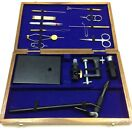 Fly Tying Tool FF 798 Kit Hand Made Wooden Box with 15 Tools New By Fishnett