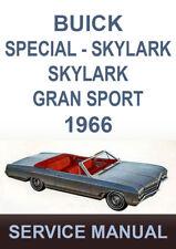 BUICK 1966 WORKSHOP MANUAL: SPECIAL SPORTWAGON SKYLARK