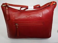 Top Quality Soft Leather Large Hand Bag ZipTop Red from ROWALLAN of Scotland