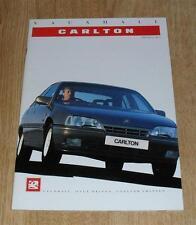 Vauxhall Carlton Brochure 1989 -1.8 2.0 2.3D 3.0 GSI 3.0 CDX CD GL L