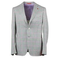 Isaia Slim-Fit 'Cortina' Layered Check Super 140s Wool Sport Coat 40R (Eu 50)