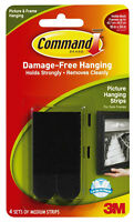 3M Command Medium Picture Hanging Strips Black Damage Free