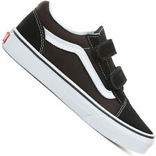 fd6aced72cdce VANS Old Skool V Kids Black White Suede & Canvas Casual Trainers Strap 13 UK