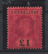 Sierra Leone £1 EDVII Mint SG85 Cat £275, LH, Natural Gum Wrinkle (M7)
