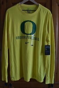 Oregon DUCKS Football TEAM  Nike Men's Dri-Fit LONG SLEEVE SHIRT  L Large NWT
