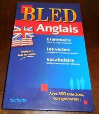 BLED Anglais Grammaire Verbes Vocabulaire Hachette 2012