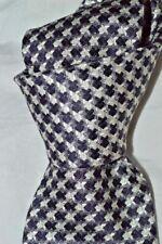 "12/30! $250 NWT TOM FORD Dark PURPLE white geometric 3.75"" woven silk tie Italy"