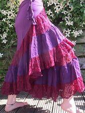 Long Wrap Skirt Gypsie, Hippy, Festival,Pixie,Steampunk,psy, Flamenco, Bohemian