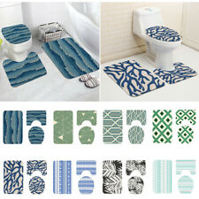 3Pcs/Set Anti-Slip Flannel Washable Bathroom Toilet Rug And Kitchen Mat Carpet