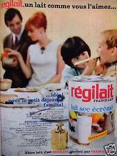 PUBLICITÉ 1967 RÉGILAIT FRANCE-LAIT LAIT SEC ÉCRÉMÉ - ADVERTISING