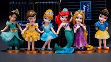 Nfree shipping Decoration mermaid princess 9 cm Pvc action figure toy 6 pcs/set