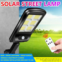 300W LED Solar Street Wall Light PIR Motion Sensor Outdoor Lamp + Remote Control