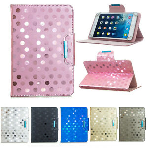 """Leather Tablet Stand Flip Cover Case For Samsung Apple Huawei Tab iPad 7"""" 8"""" 10"""""""