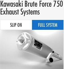 "HMF Kawasaki Brute Force 750 2012-2014 Titan Series ""quiet"" Full Exhaust Muffler"
