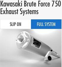 "HMF Kawasaki Brute Force 750 2012-2014 Titan Series ""quiet"" Full Exhaust Muffler"