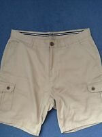 CREW CLOTHING CO STONE BEIGE CHINO COTTON SHORTS SIZE XL Possibly 36 Waist New