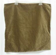 POTTERY BARN OLIVE GREEN VELVET SQUARE THROW PILLOW COVER 20 X 20
