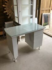 Manicure Desk with glass top 3 drawers