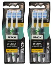 6 x REACH TOOTHBRUSH LIMITED EDITION MEDIUM Brand New