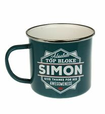 Simon Camping Enamel Tin Metal Mugs Cups Outdoor Gardening Picnic New