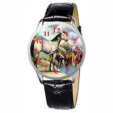 Wild Horses Drink Stainless Wristwatch Wrist Watch