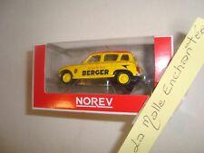 1/54 3-INCHES  RENAULT 4 L BERGER PUB TDF  -NOREV JAUNE