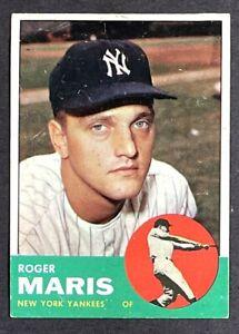ROGER MARIS 1963 TOPPS #120 NEW YORK YANKEES