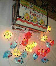 Rare Vintage Mary Engelbreit Tea Party Light Sets (2) 20 Teapot Covers & lights
