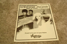 Blondie 2006 congrats ad Debbie Harry, for Rock And Roll Hall of Fame induction