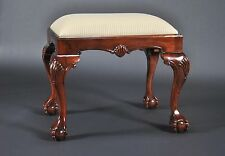 Mahogany Chippendale Bedside Bench - Ball-in-Claw Feet