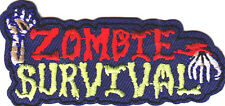 """""""ZOMBIE SURVIVAL"""" - HALLOWEEN - SCARY - FUN - ZOMBIE - Iron On Embroidered Patch"""