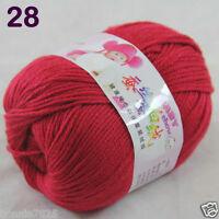Sale 1 Skein x50g Baby Cashmere Silk Wool Children hand knitting Crochet Yarn 28