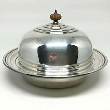 Vintage Birks Rideau Plate Covered Dish 3 Piece Silver Plate Muffin Warmer Tray