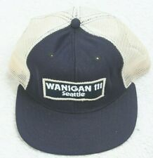Wanigan Vintage Baseball Hat Cap Black White Adjustable Snapback 1 Size Fits All