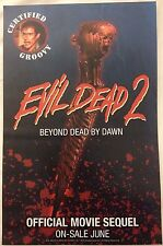 EVIL DEAD 2 BEYOND DEAD BY DAWN PROMO POSTER SPACE GOAT PRODUCTIONS VERY RARE