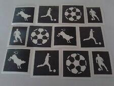 30 x Stencil spagnolo di calcio per Glitter/Tatuaggi AEROGRAFO SPAGNA