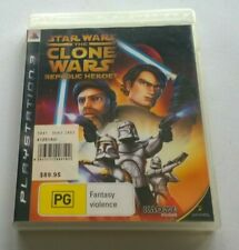 SONY PLAYSTATION 3 PS3  STAR WARS THE CLONE    WARS REPUBLIC HEROES VIDEO GAME