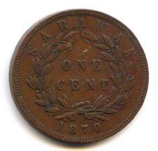 Sarawak C. Brooke Rajah 1 Cent 1870 KM 6