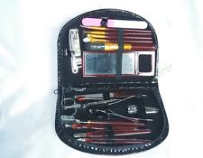 18 PEZZI Donna Manicure, Pedicure Set, Kit di strumenti, Portafoglio di Pelle Custodia