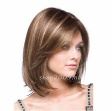 HESW31 short brown mixed blonde hair cosplay fashion wigs for modern women wig