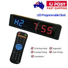 Programmable Interval Timer Training Clock Stopwatch Digital Fitness Tabata Yoga