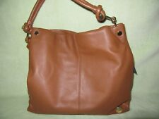 Vince Camuto Ruell Russet Very Soft Leather Shoulder Hobo Bag! Real Quality!