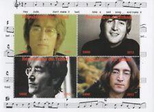 Beatles John Lennon Hey Jude Republique du Tchad 2013 estampillada sin montar o nunca montada SELLO Sheetlet