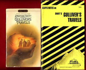 Gulliver's Travels by Jonathan Swift & Cliff Notes study guide - 2 books