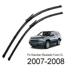 XUKEY Front Windshield Wiper Blades Set For Chevrolet Suburban GMC Yukon XL 2008