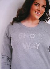 """Maurices With Tags Gray """"snow Way"""" Graphic Pullover Size XXL"""