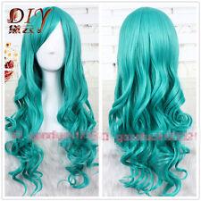 Wavy Cosplay Women 65cm long Party  Dark Turquoise Bleach Neliel Wig Halloween